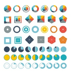 Set of infographic diagram elements for design vector
