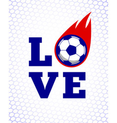 soccer football sport game fire ball design on vector image