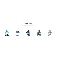 Souvenir icon in different style two colored and vector