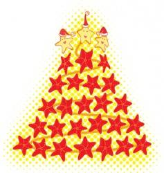 Star fish christmas tree vector