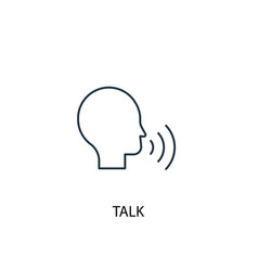 talk concept line icon simple element vector image