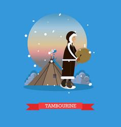 tambourine concept in flat vector image