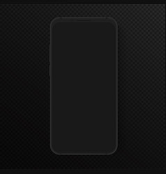 totally soft realistic black smartphone vector image