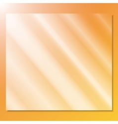 transparent glass on a yellow background vector image