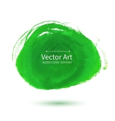 Watercolor green stain vector image