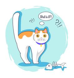 What is it surprised kitten vector
