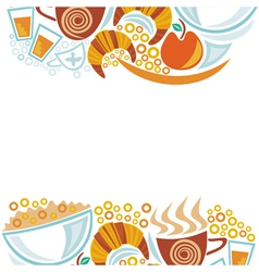 Breakfast and coffee cups pattern vector image vector image