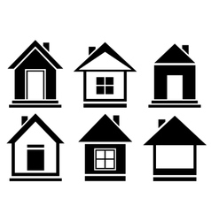 collection house icons vector image
