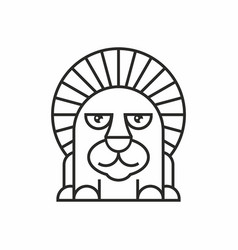 cute lion icon on white background vector image