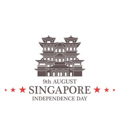 Independence Day Singapore vector image vector image
