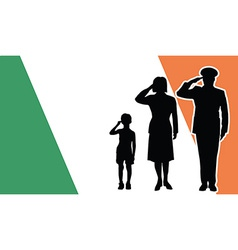 ireland soldier family salute vector image vector image