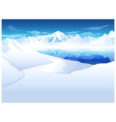 Snowcapped mountain vector