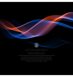 Wave smoke background vector image vector image