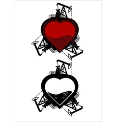 Ecology heart vector image