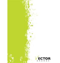 Green splat grunge vector image vector image
