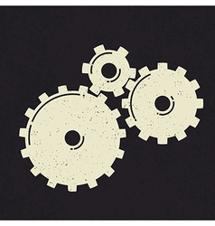 Grunge styled gears vector