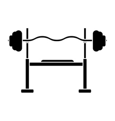 silhouette brench press exercise gym design vector image