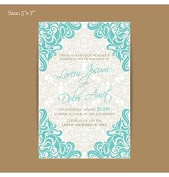 vintage invitation 5x7 vector image vector image