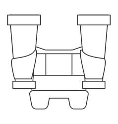 big binoculars icon vector image