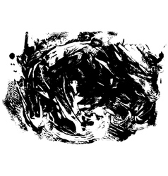 Big black spot of paint in vector image