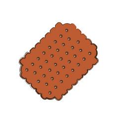 Cracker sweet snack vector