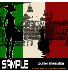 Italian travel flyer vector image