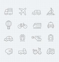 transport thin line symbol icon vector image