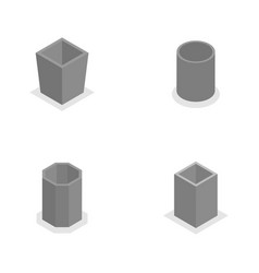 urn for garbage in isometric vector image