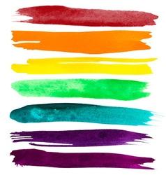 Watercolor Brush Strokes vector image