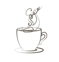 Coffee cup foam Logo design template vector image