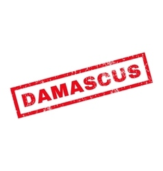 Damascus Rubber Stamp vector image