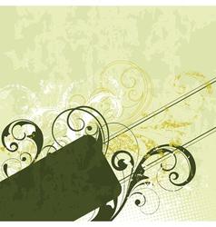 green flourish background vector image