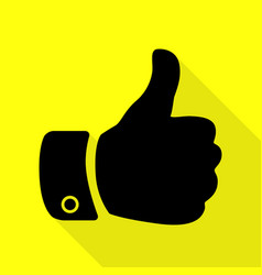 hand sign black icon with flat style vector image