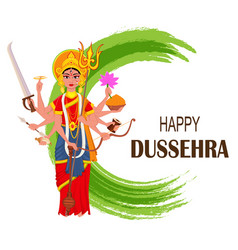 happy dussehra maa durga on abstract background vector image vector image