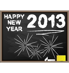 HAPPY NEW YEAR 2013 BLACKBOARD vector image