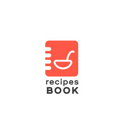 logotype notepad for entriesrecipe book vector image