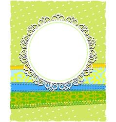 round white ornamental frame vector image vector image