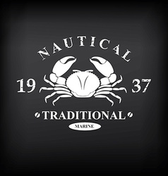 T-shirt print design Nautical marine badge design vector image vector image