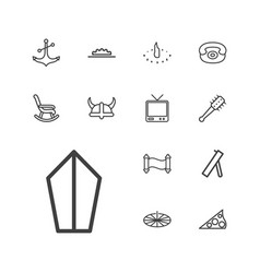 13 antique icons vector