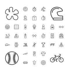 37 sport icons vector