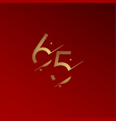65 years anniversary celebration elegant number vector