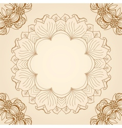abstract circular floral pattern vector image