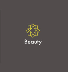 Abstract geometric yellow logo icon pattern for vector