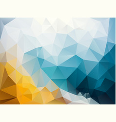 Abstract irregular polygon background blue yellow vector
