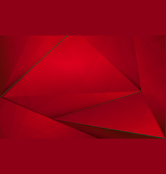 Abstract red polygonal with christmas background vector