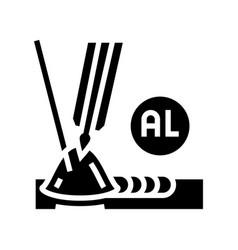 Aluminum welding glyph icon vector