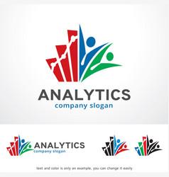 Analytics logo template design vector