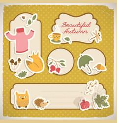 Autumn copybook cover design vector
