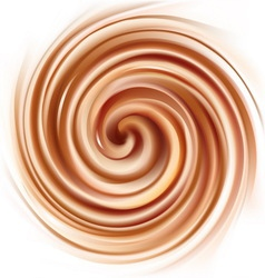 Background of swirling creamy texture vector