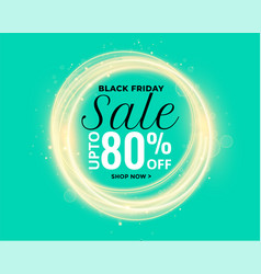 beautiful glowing lights black friday sale banner vector image
